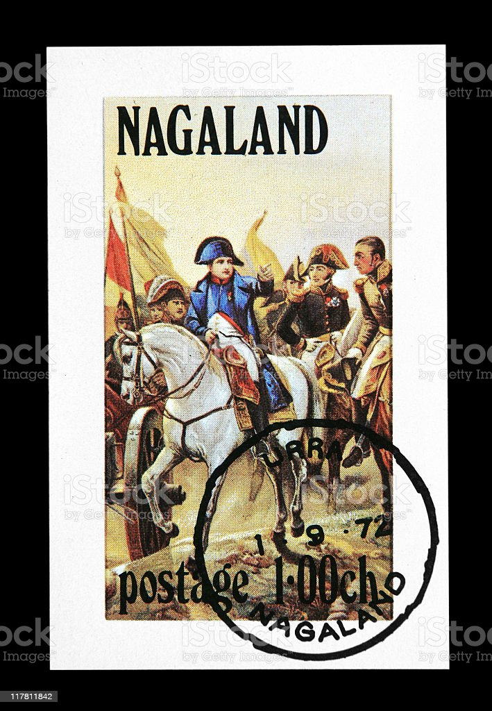Postmark - Napoleon Bonaparte stock photo
