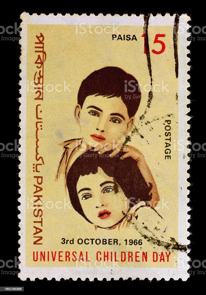 Postmark  Pakistan - Children day 1965 royalty-free stock photo