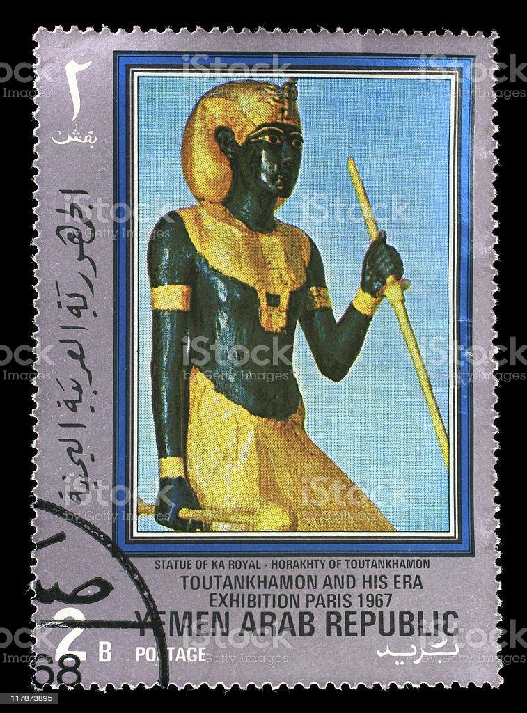 Postmark - Statue of Ka Royal royalty-free stock photo