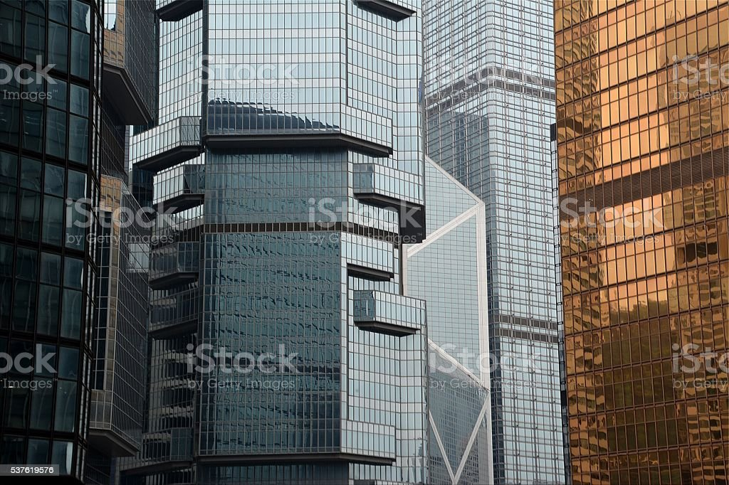 Postmodern architecture in Hong Kong stock photo