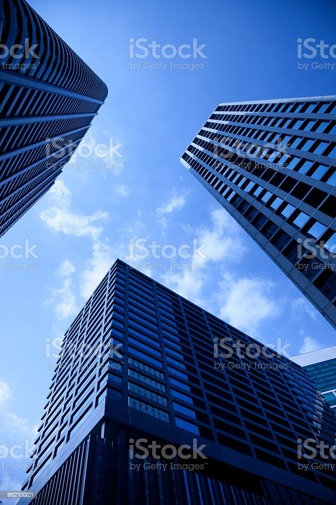 postmodern architecture royalty-free stock photo