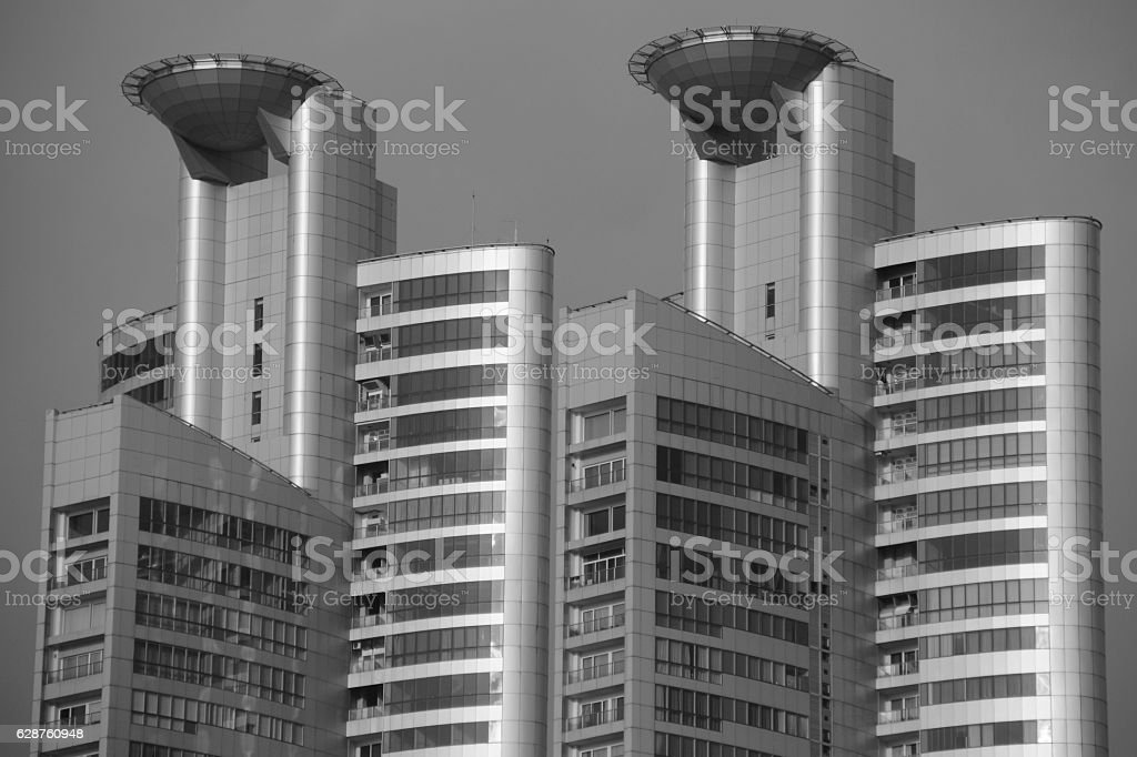 Postmodern High rise residence, Bangkok - Thailand stock photo