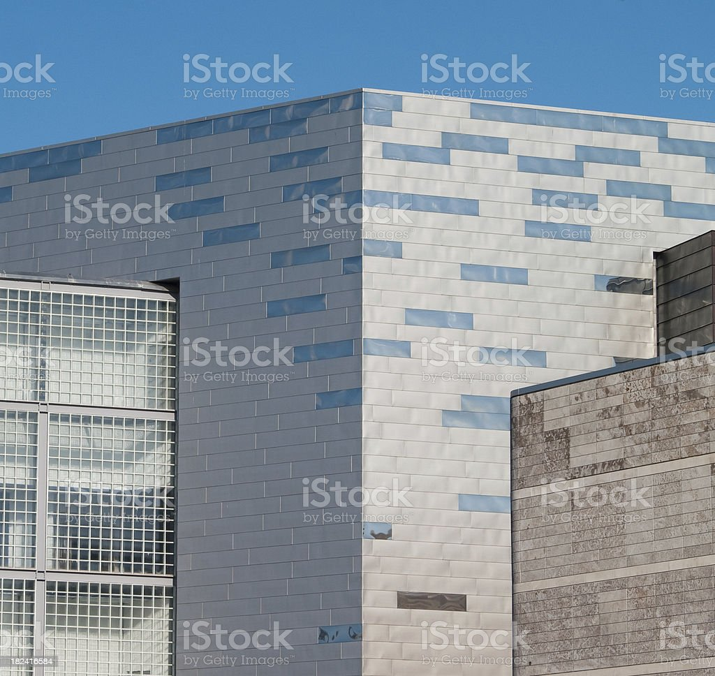 postmodern new building detail in Liverpool city centre stock photo
