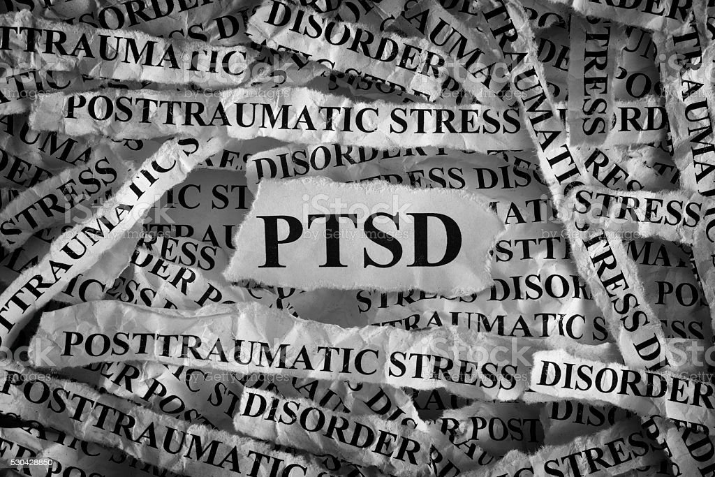 Posttraumatic stress disorder stock photo