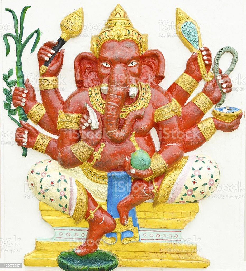 posture of Hindu God Ganesha royalty-free stock photo