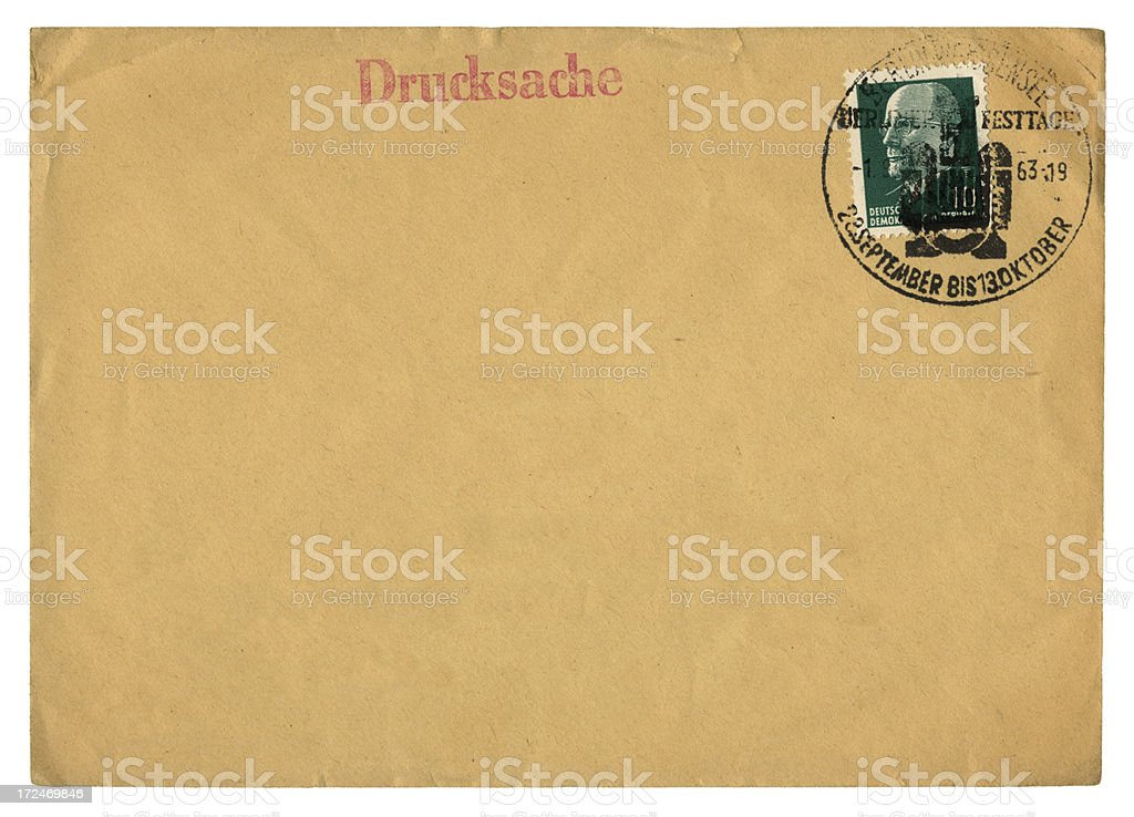 Post-war envelope from Berlin, East Germany stock photo