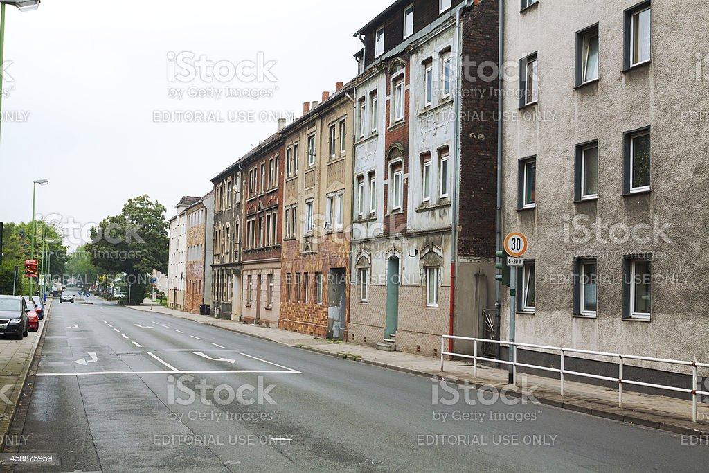 Postwar period architecture stock photo