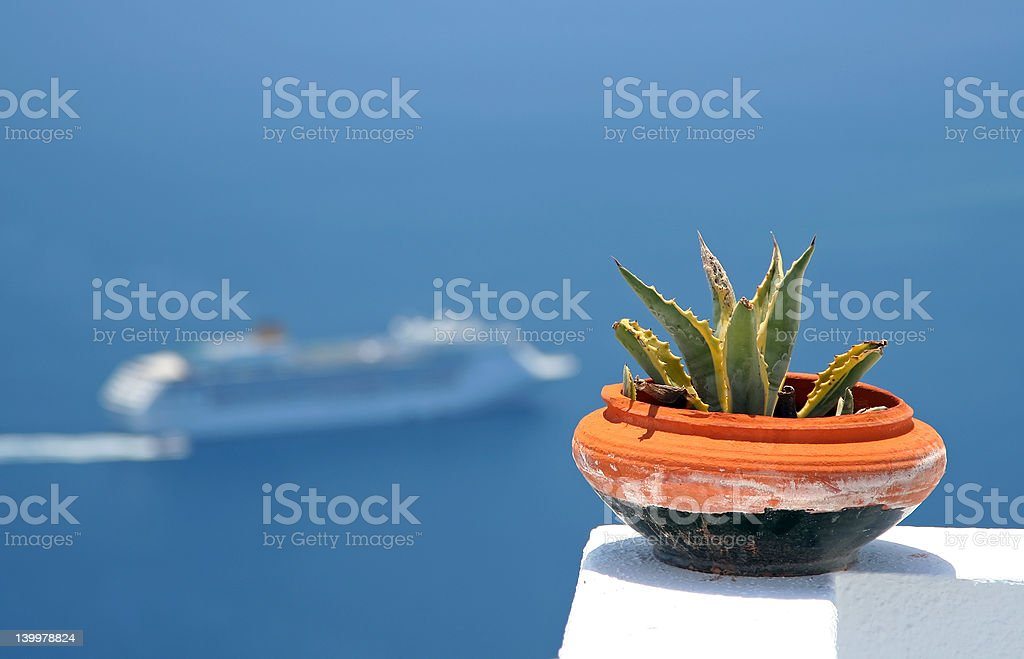 Pot and Cruise royalty-free stock photo