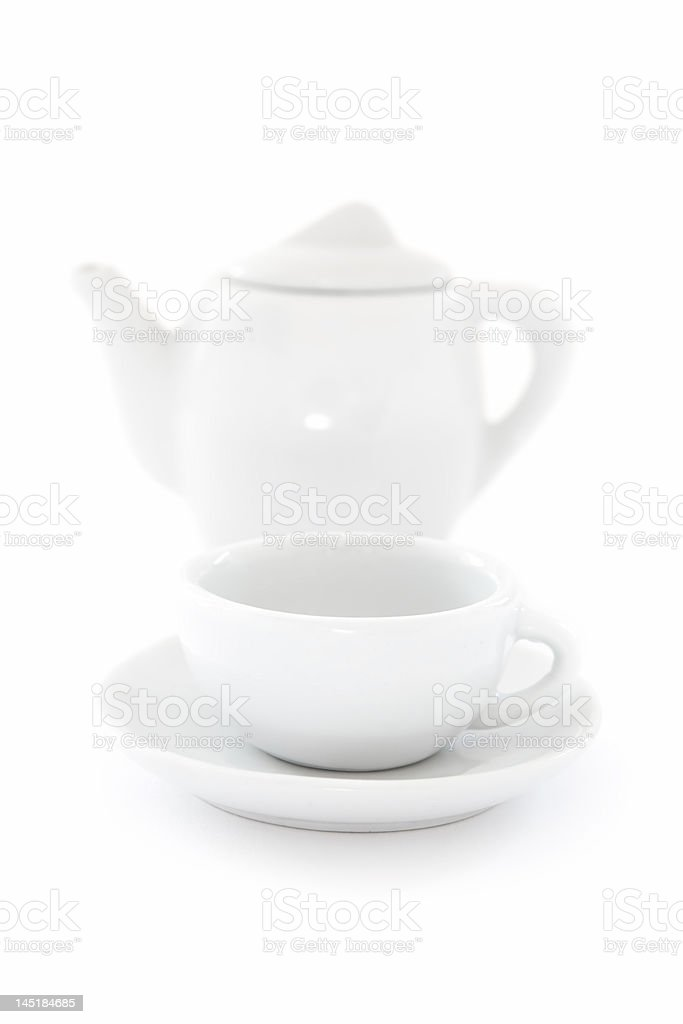 Pot and Cup royalty-free stock photo