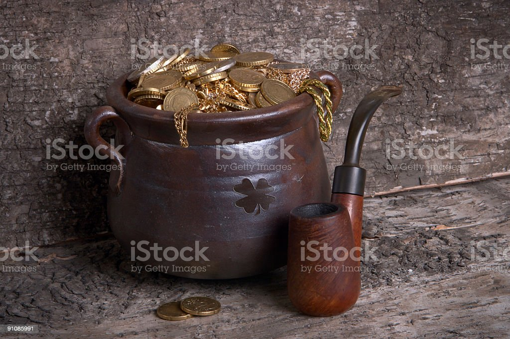 Pot and pipe royalty-free stock photo