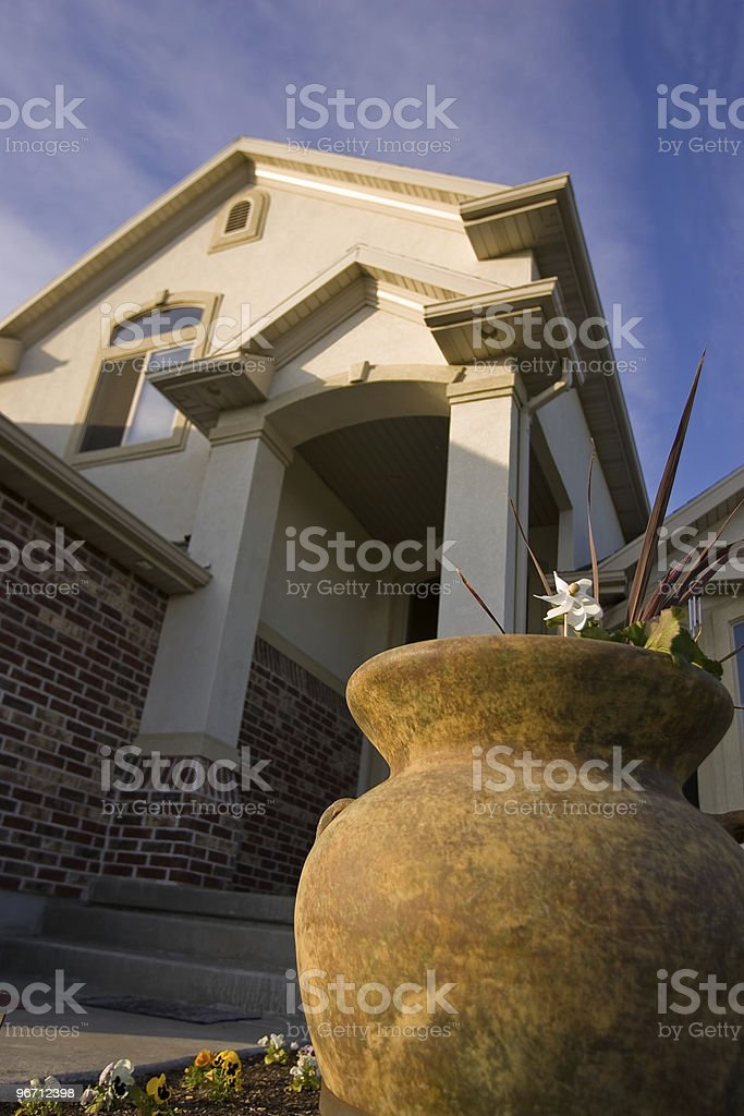Pot and Porch stock photo