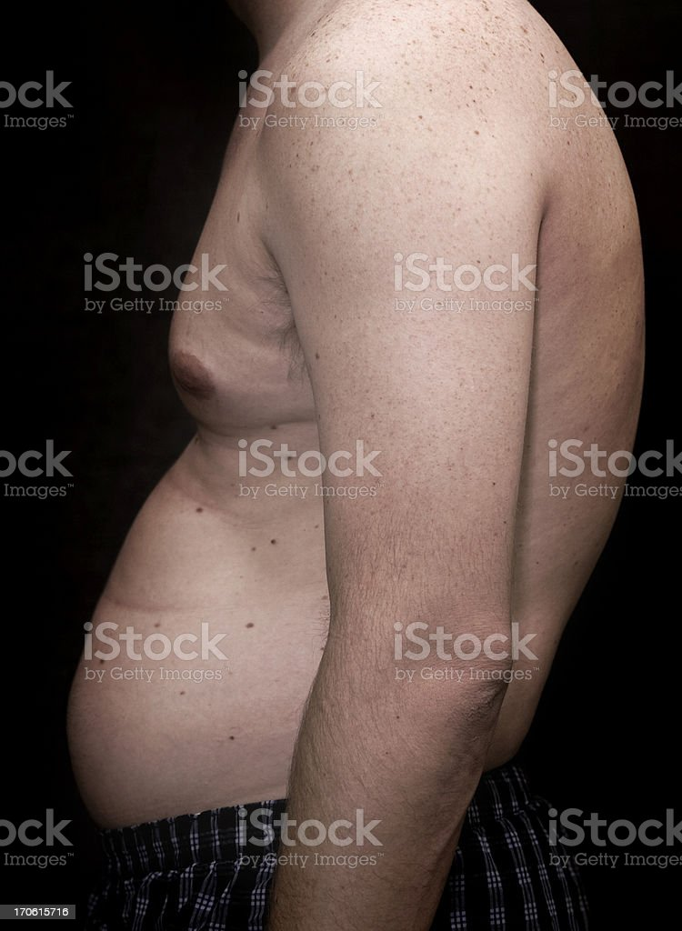 pot belly royalty-free stock photo