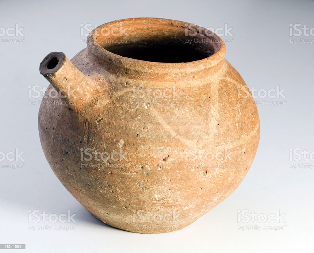 Pot from the Middle Bronze Age stock photo