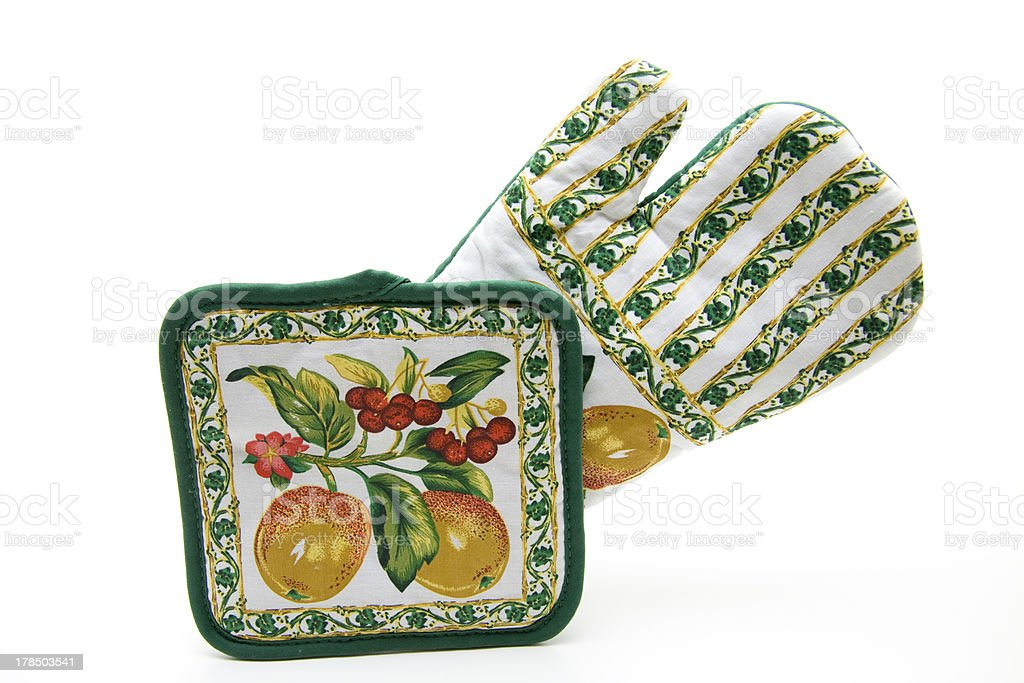 Pot glove and holder stock photo