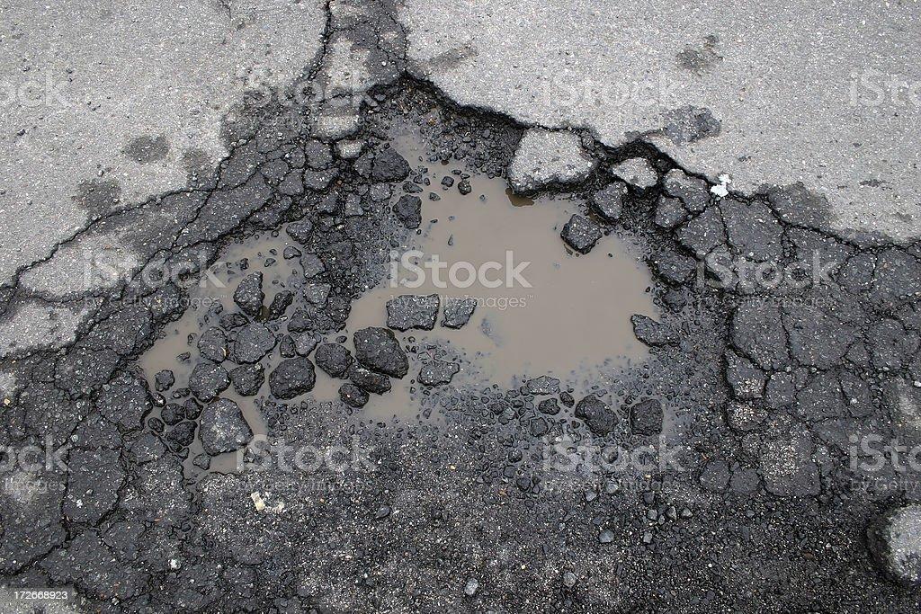 Pot Hole stock photo