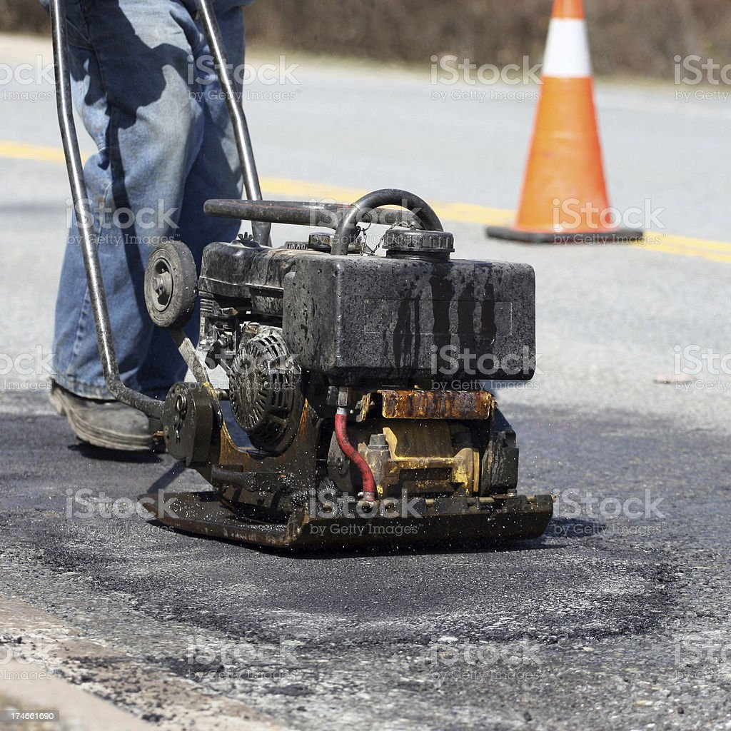Pot Hole Repair, Series royalty-free stock photo