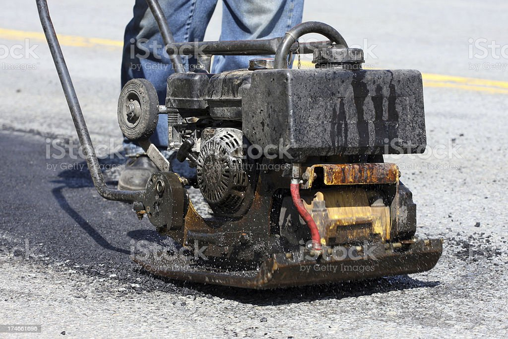 Pot Hole Repair, Series royalty-free stock photo