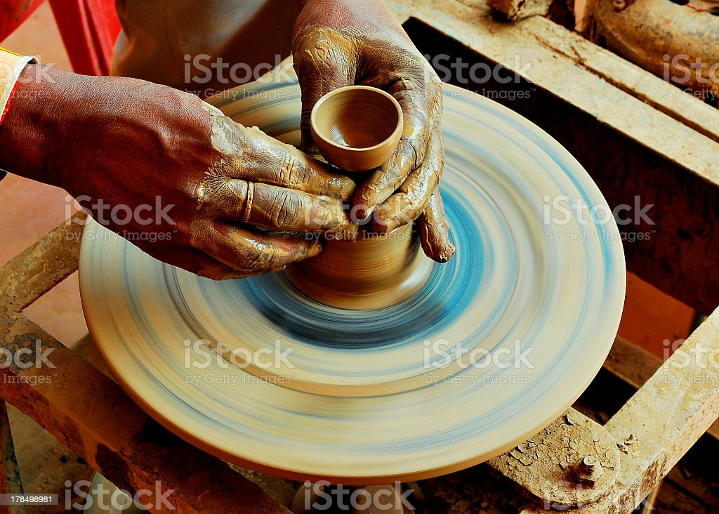 Pot Maker royalty-free stock photo