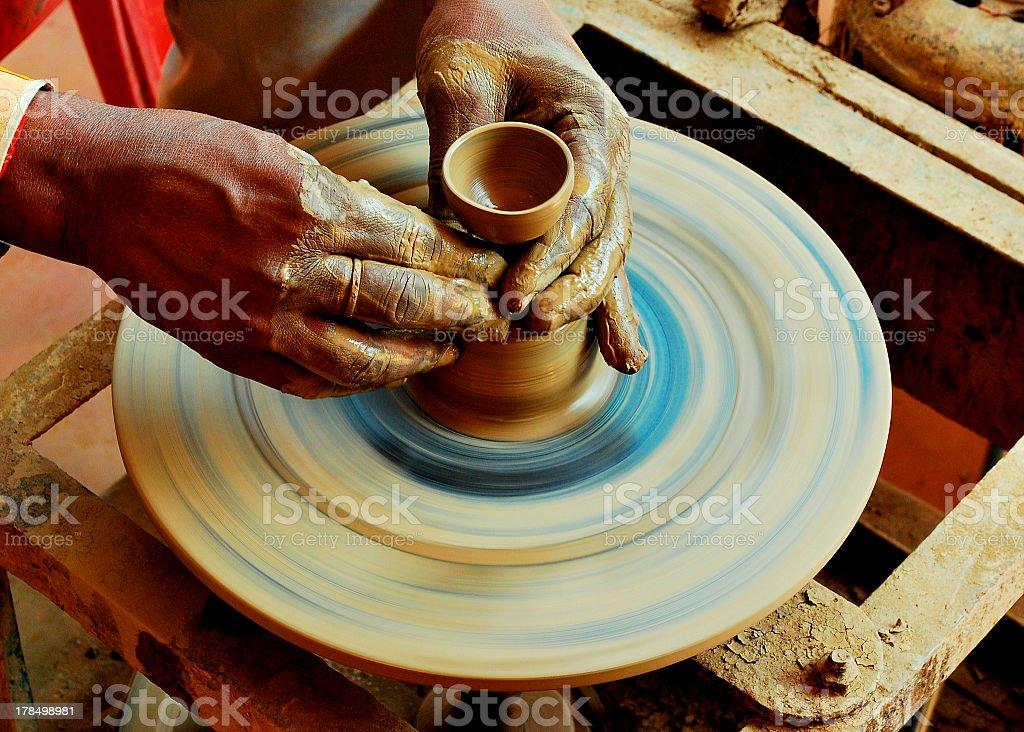 Pot Maker royalty-free stock photo