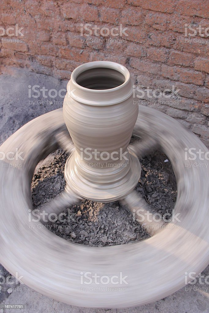 Pot Making royalty-free stock photo