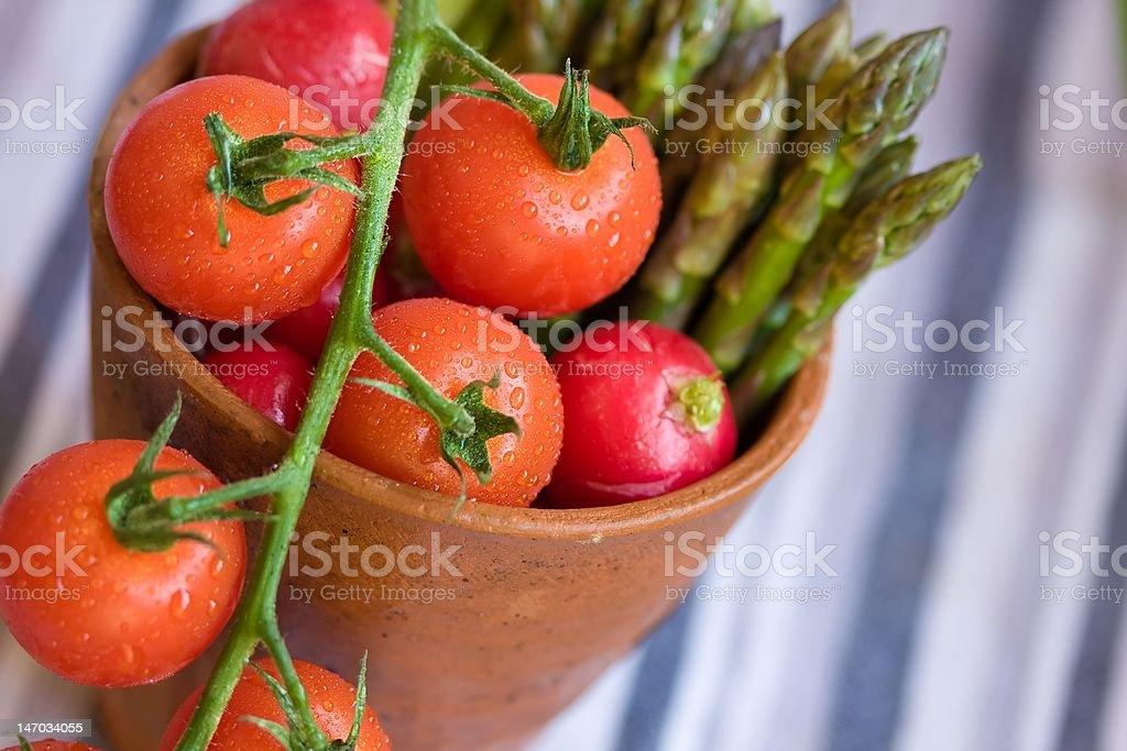 Pot of freshness stock photo