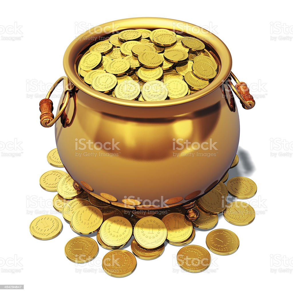 Pot of gold stock photo
