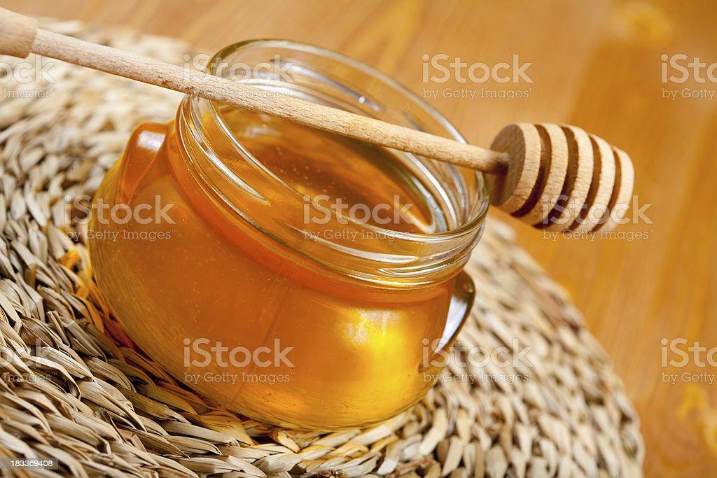 Pot of honey stock photo