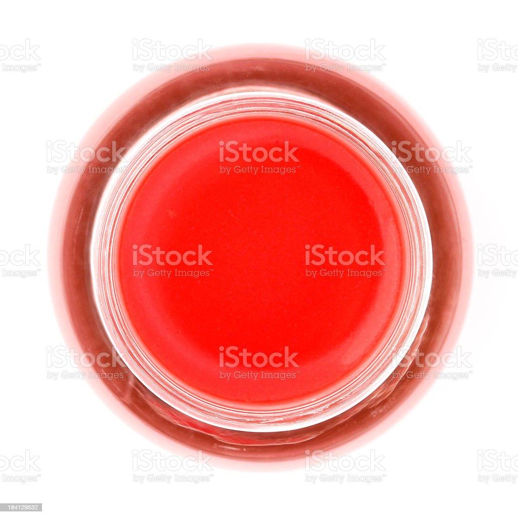 Pot of lip balm, close up royalty-free stock photo