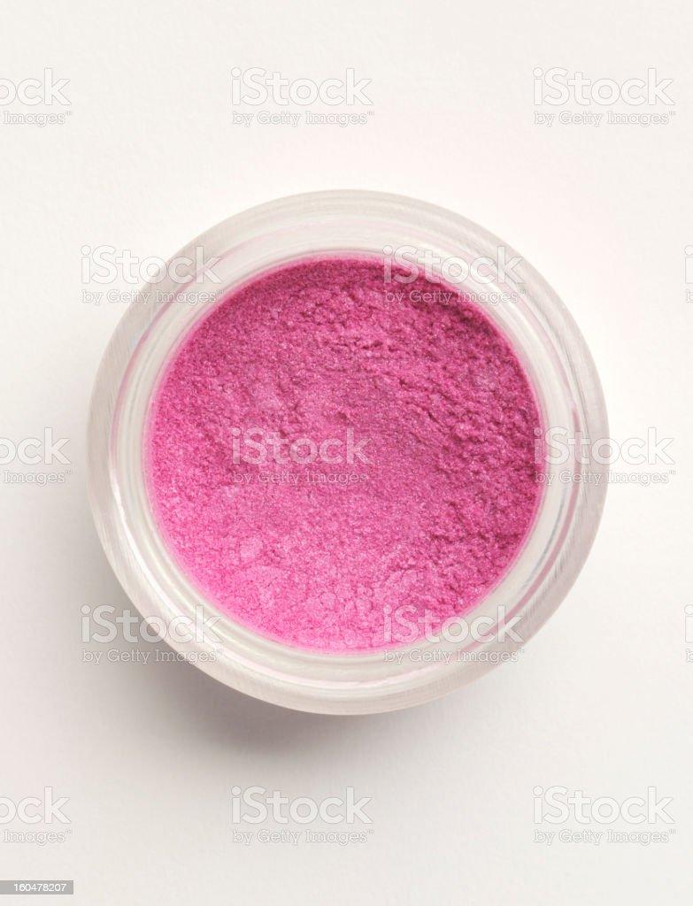 Pot of pink Makeup royalty-free stock photo