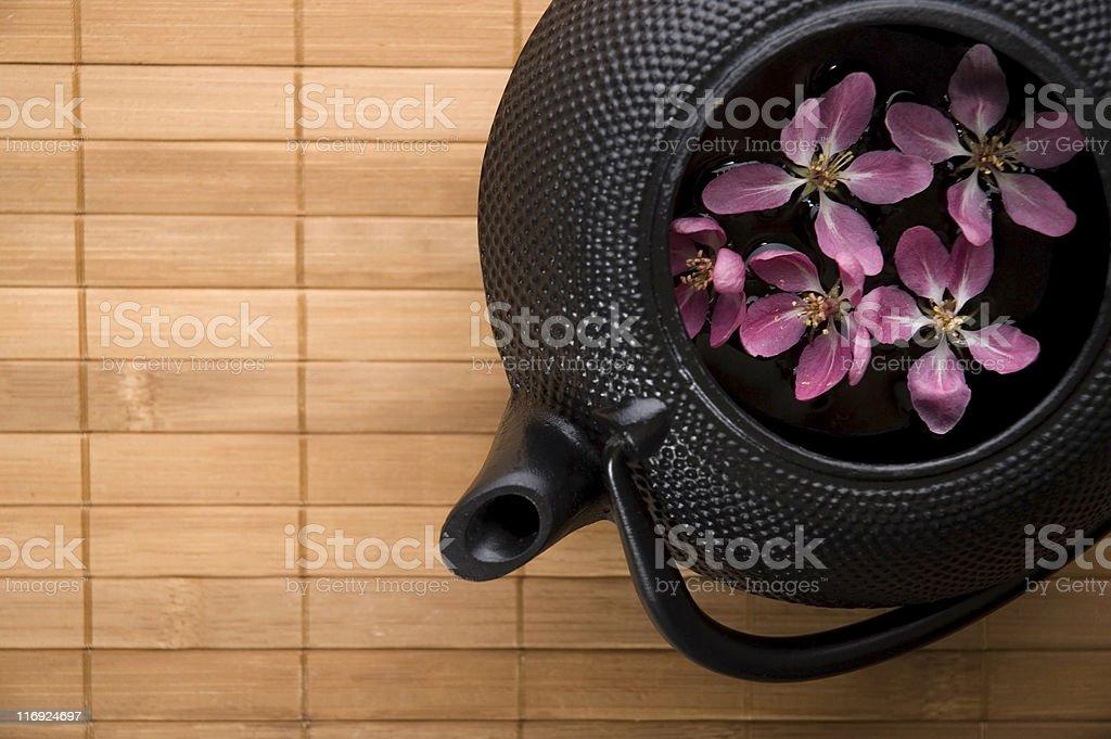 pot of tea royalty-free stock photo