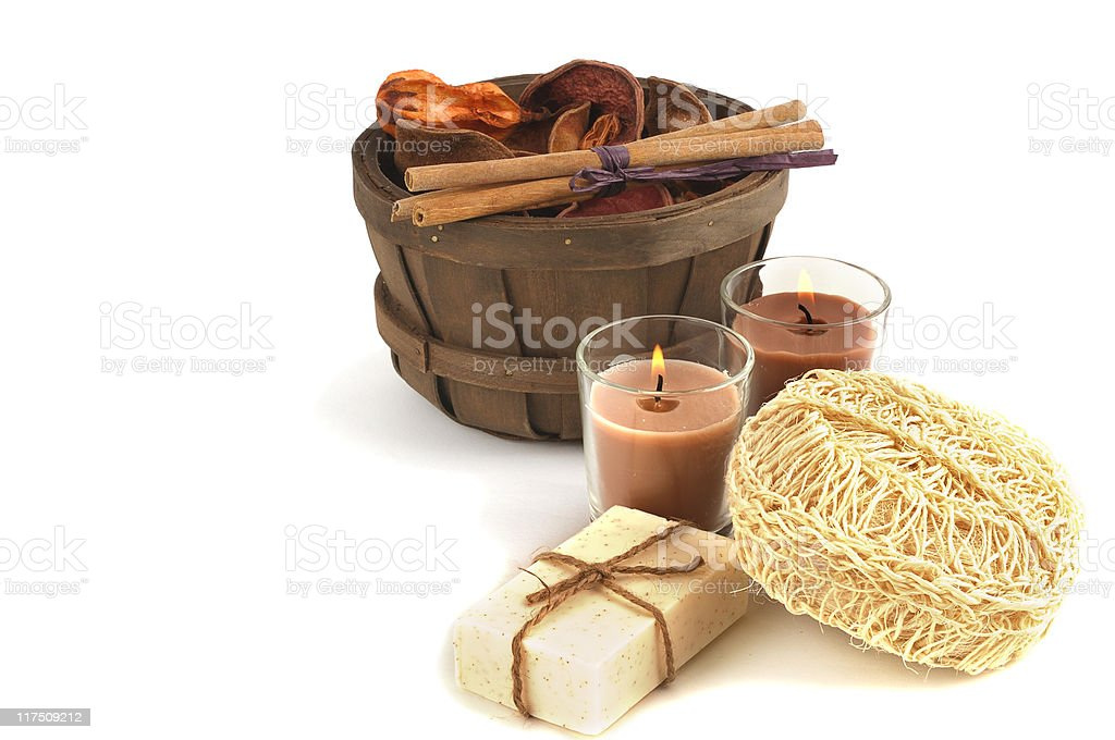 Pot Pourri, Soap and Candles Collection royalty-free stock photo