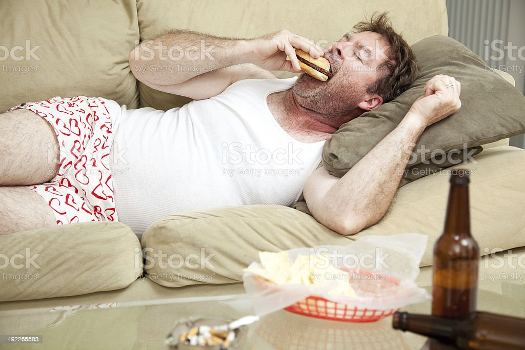 Pot Smoker with the Munchies stock photo