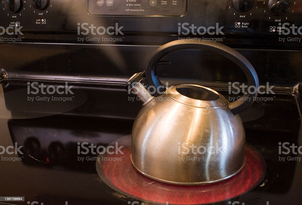 pot steaming royalty-free stock photo