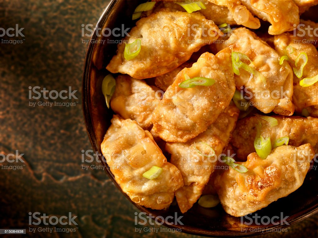 Pot Stickers or Dumplings stock photo