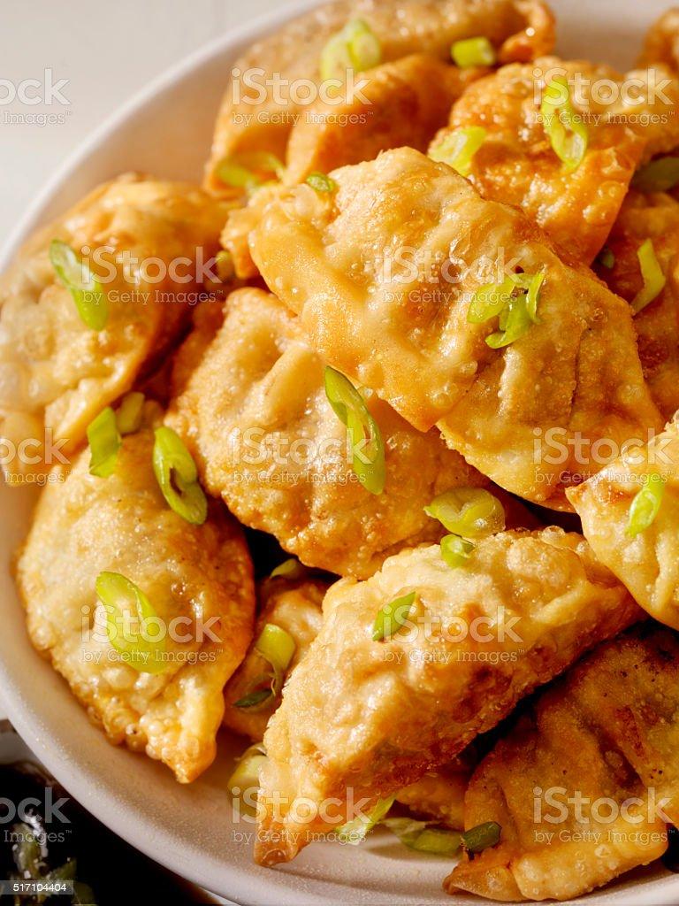 Pot Stickers or Dumplings stock photo