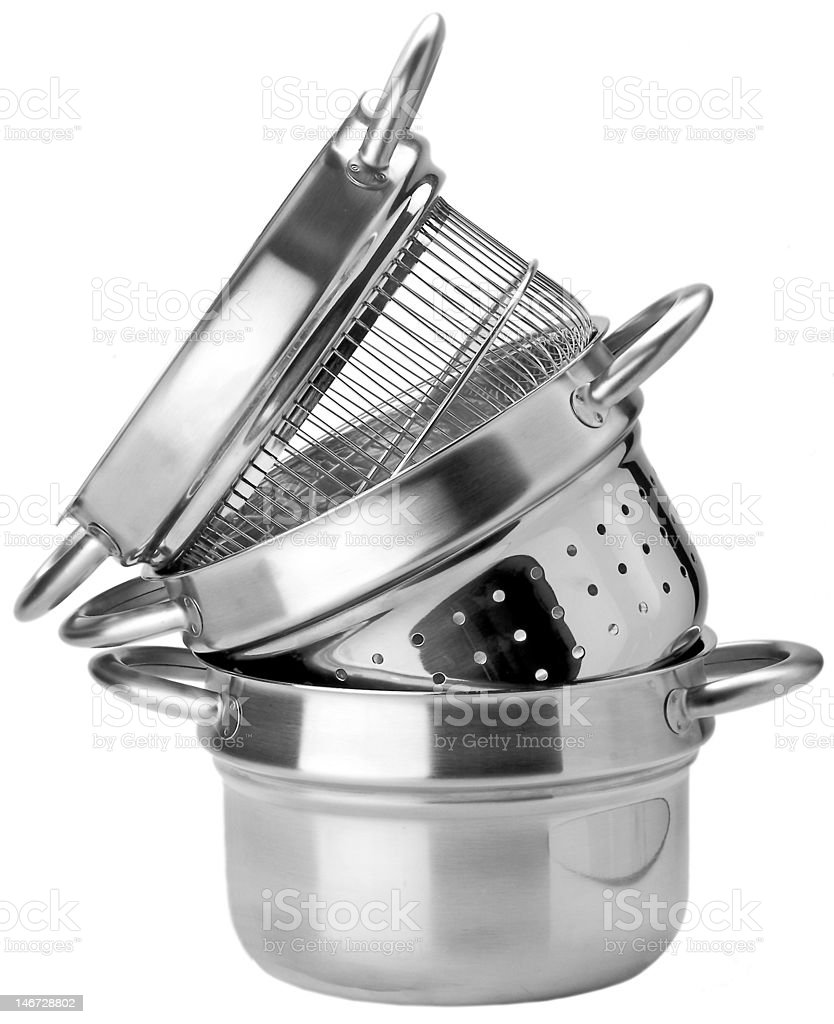 pot to cooking various pasta royalty-free stock photo