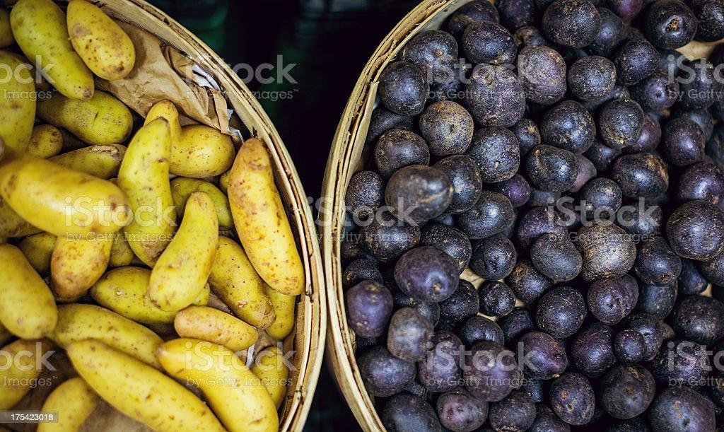 potaatoes stock photo