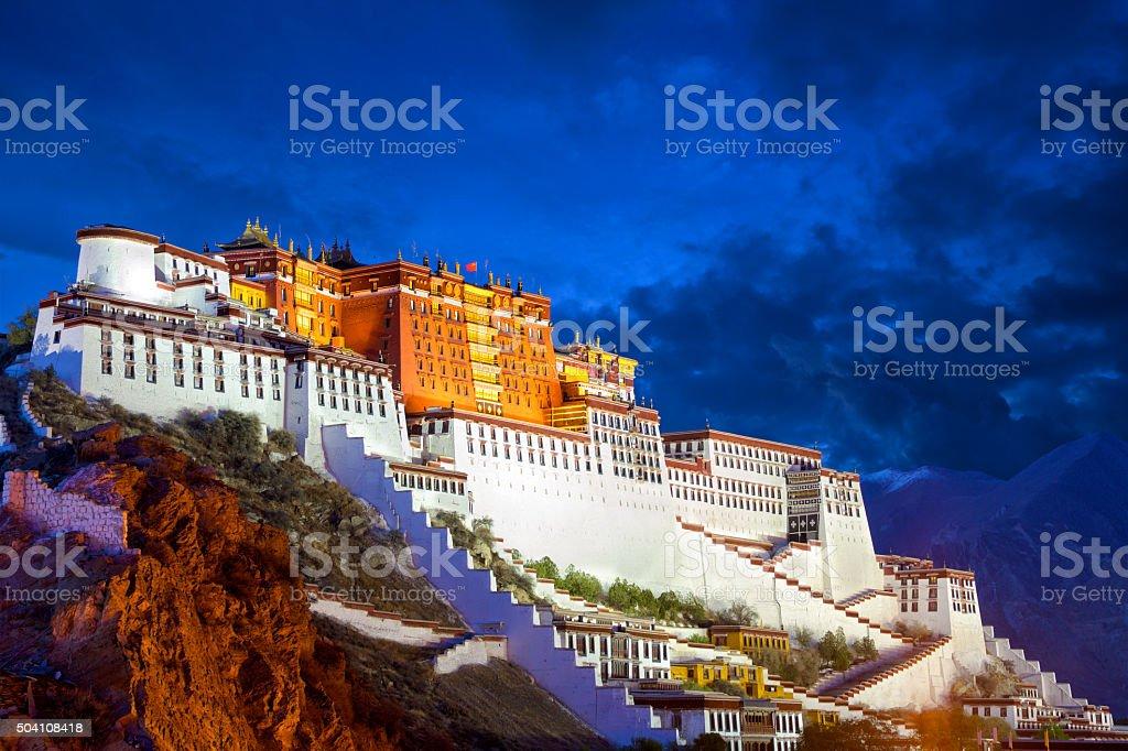 Potala Palace at dusk stock photo
