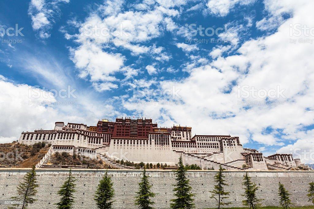 Potala Palace in Lhasa of Tibet stock photo