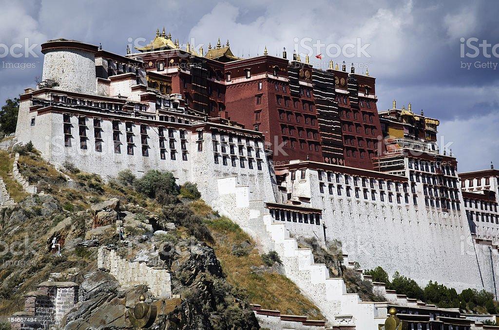 Potala Palace in Lhasa, Tibet. stock photo