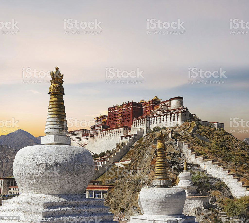 Potala Palace in Lhasa - Tibet stock photo