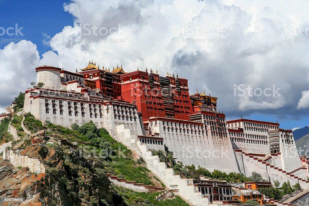 Potala Palace in Tibet stock photo