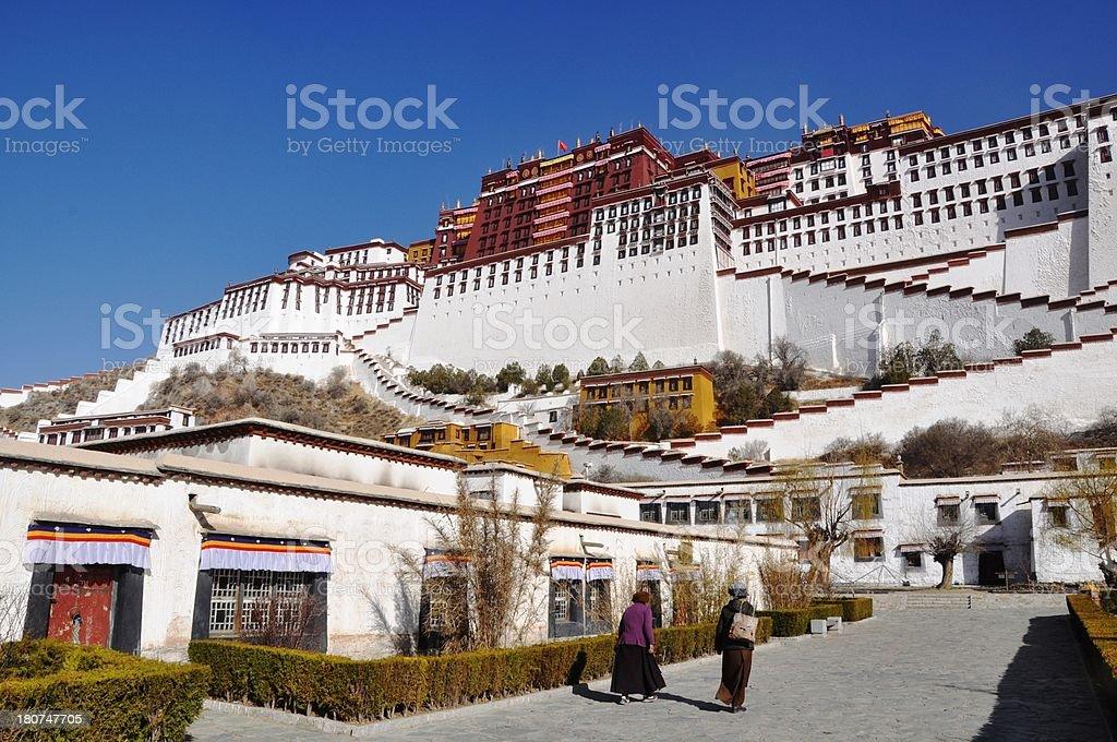 Potala Palace royalty-free stock photo