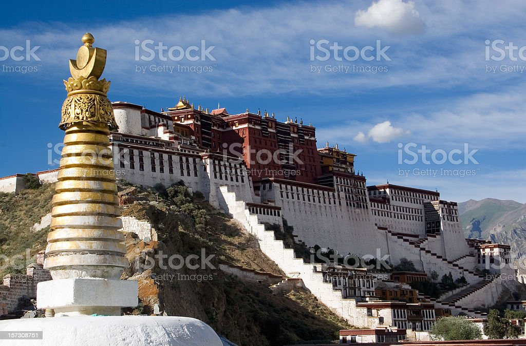 Potala Palace. Tibet. stock photo