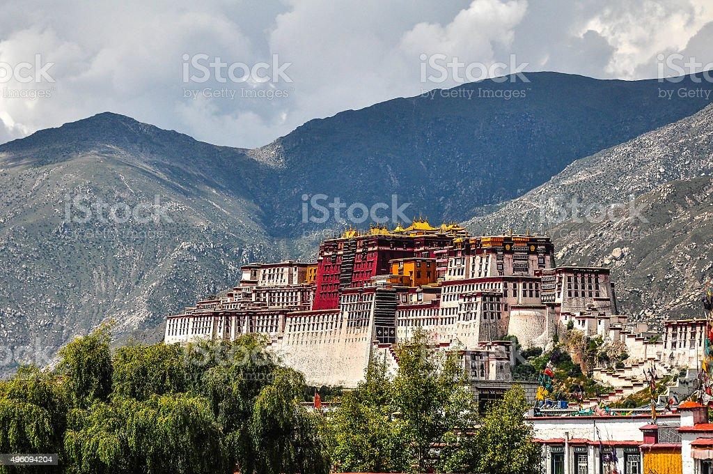 Potala Palace,Tibet Lhasa stock photo