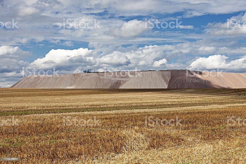 Potash dump royalty-free stock photo