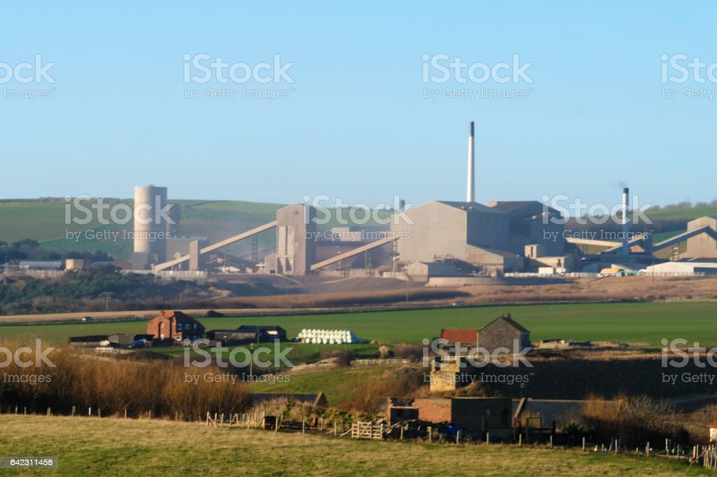 Potash Industry in North Yorkshire stock photo