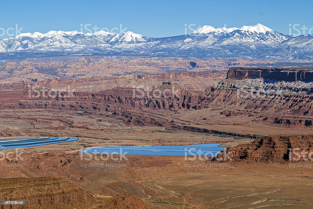 Potash Ponds seen from Dead Horse Point stock photo