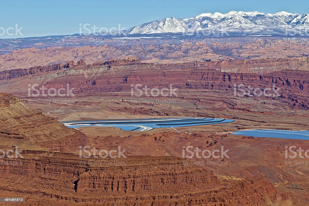 Potash Ponds view from Dead Horse Point stock photo