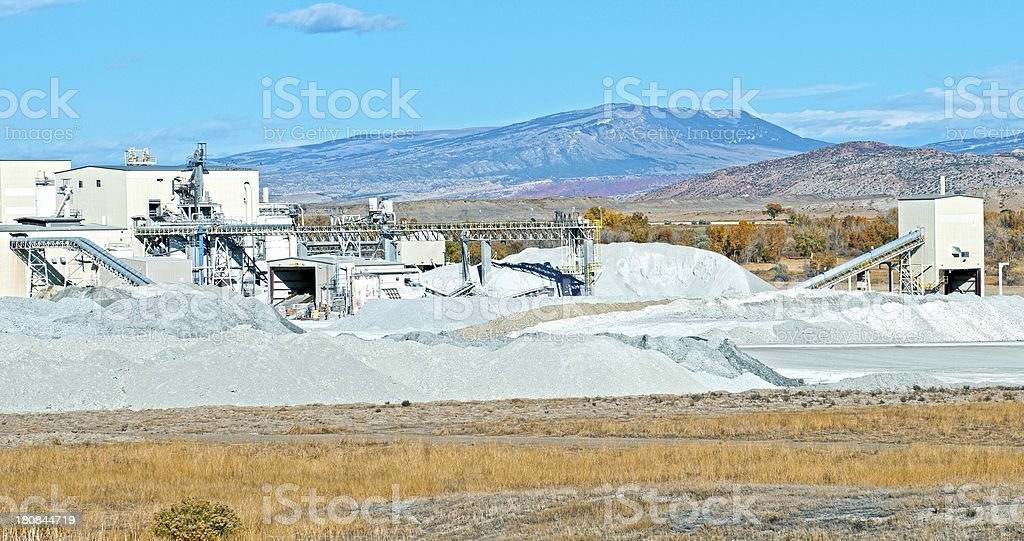 Potash processing plant in Wyoming stock photo